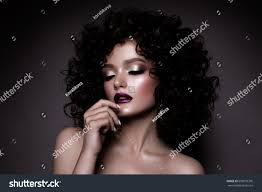 small hair beauty woman curly small stock photo 699075376