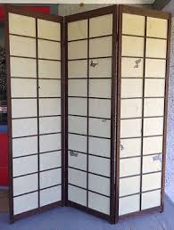 Japanese Screen Room Divider Large Vintage Japanese Shoji Screen Room Divider Folding Wood
