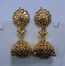 Chandelier Gold Earrings Gold Earrings 22 K Handmade Jumke Dangles Earrings Chandelier