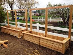 how to build a cedar planter box yard pinterest cedar