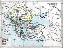 Europe Middle East Map by South Eastern Europe Map 1444 A D Full Size