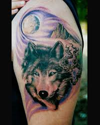 collection of 25 wolf howling on biceps