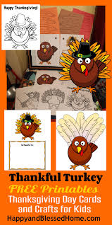 free printable thanksgiving day cards and crafts for kids crafts