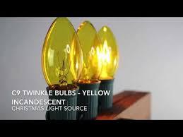 Yellow C9 Lights Yellow C9 Twinkle Bulbs Mardi Gras Bulbs