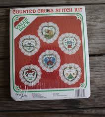 counted cross stitch six ornament frames kit value
