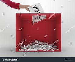 paper shredder used ballot box stock illustration 194504357