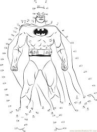 batman dot to dot printable worksheet connect the dots