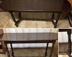Walnut Sofa Table by Walnut Console Table Etsy