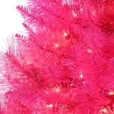 trimming traditions 3 pre lit pink tree sears