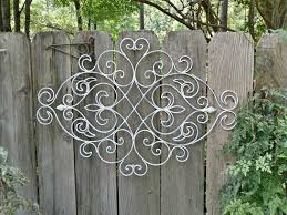 Elements Home Decor by Gorgeous Fence Decor Which Is Made Of Metal Elements And Painted