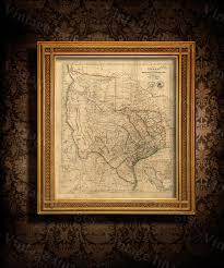 Old Texas Map Old Texas Map 1841 Vintage Texas Historical Map Antique