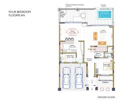 4 bedroom floor plans bloomingdale villa floor plans u2013 dubai sports city off plan