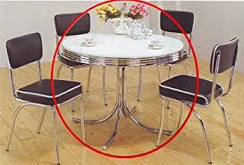 Amazoncom Coaster Retro Round Dining Kitchen Table In Chrome - Amazon kitchen tables