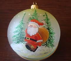 beautiful ball globe santa dagmara 3d glass christmas holiday