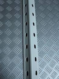montante scaffale montante angolare in acciaio 195cm per scaffalatura ripiani