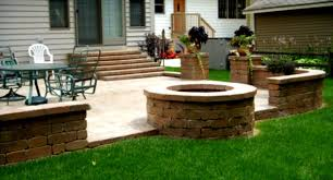 brick patio landscaping ideas outdoor brick fireplace patio in