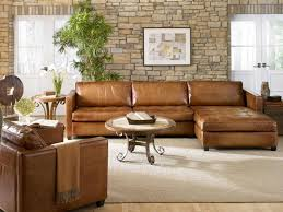 Brown Leather Sofa With Chaise Contemporary Brown Leather For Cool Seating Designs Ruchi