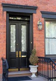 front door color for orange brick house google search home
