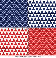patriotic argyle chevron patterns red white stock vector 139338857