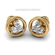 bluestone earrings http www bluestone earrings diamond earring in 18kt yellow