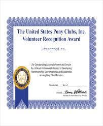 volunteer certificate template 4 best and various templates ideas
