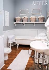 before and after bright guest bathroom makeover