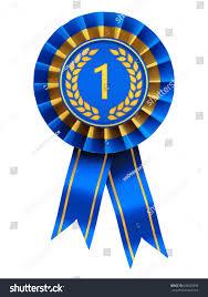 blue and gold ribbon place ribbon cockade blue gold stock illustration 639605809