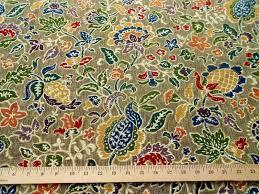 bloomcraft home decor fabric pennsylvania dutch floral multi