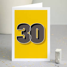 graphic 30th birthday card by wordplay design notonthehighstreet com