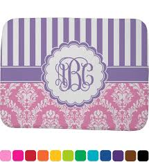 pink u0026 purple damask memory foam bath mat personalized potty