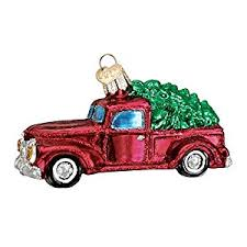 world truck with tree glass blown