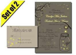 Wedding Invitations And Rsvp Cards Together Printable Mason Jar Fireflies Wedding Invitation Rsvp