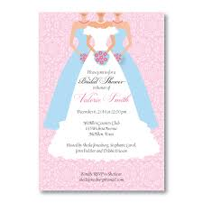 bridesmaids invitation bridesmaids in blue bridal shower invitation