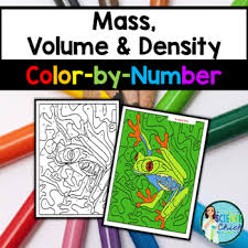 mass volume u0026 density color by number by science tpt