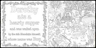 wizard oz coloring book piccadilly