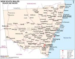 map of new south wales new south wales road map nsw road map maps of world