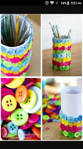 How To Make Home Decor Button Pen Holder Very Simple To Make Very Beautiful Diy