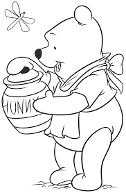 popular character free coloring activity winnie the pooh with