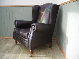 Leather Queen Anne Chair Stunning Brown Leather Queen Anne Chair In Broughton Cheshire