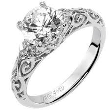 filigree engagement rings peyton diamond engagement ring featuring scrollwork design