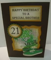 21st birthday cards for brother alanarasbach com