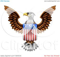 Bald Eagle And American Flag Clipart Of A Flying American Bald Eagle With A Usa Flag Shield