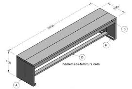 Plans For Building A Wood Bench by Wooden Bench Construction Plans For Woodworking With Scaffolding