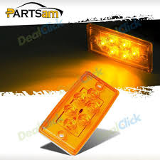 Teardrop Cab Lights amber led roof cab clearance truck bus marker light flush mount