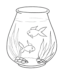 blank fish template kids coloring