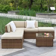 Wicker Rattan Patio Furniture by Rattan Outdoor Garden Furniture Corner Sofa Set Centerfieldbar Com