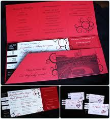 Cards Wedding Invitations Red And Black Baseball Ticket Wedding Invitations Emdotzee Designs