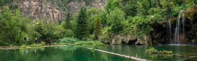 colorado waterfalls hanging lake hiking trail