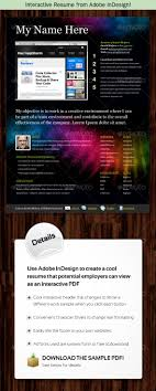 interactive resume interactive resume from adobe indesign by kilik graphicriver