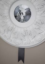 make a ceiling medallion into a picture frame my home